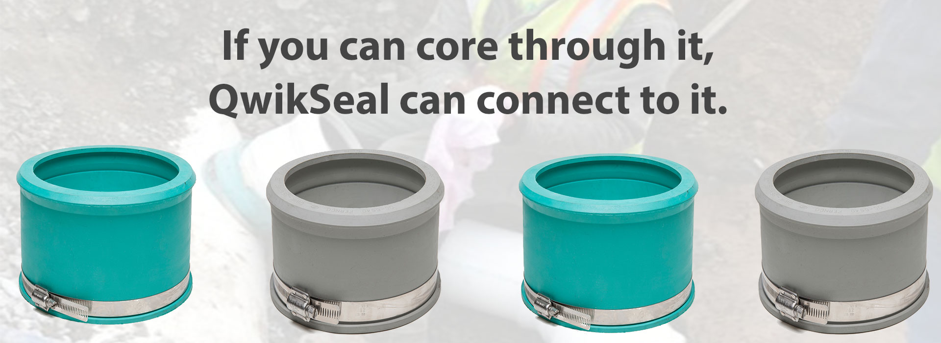 If you can core through it, QwikSeal can connect to it.