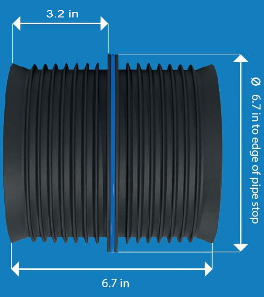 "6"" Inch Straight Connection - Icon Pushfit Coupling"