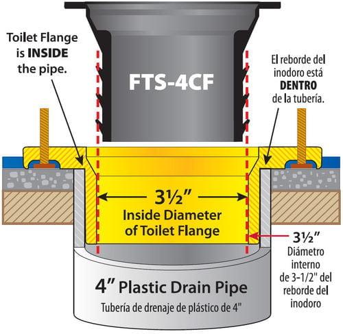 Wax Free Toilet Seal FTS-4CF Drawing