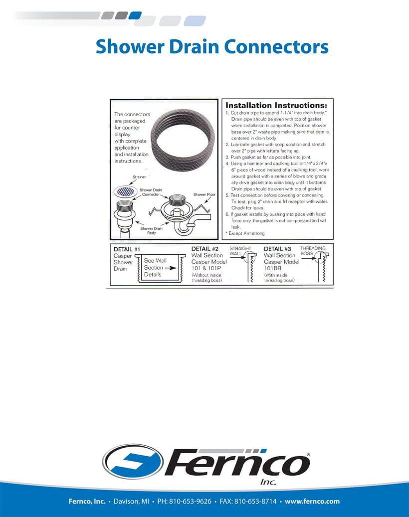 Fernco Shower Drain Connectors Installation | Fernco   US