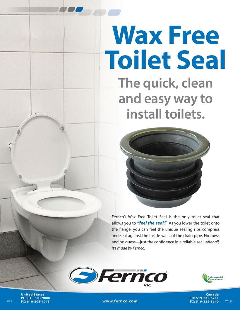Wax Free Toilet Seal Sales Sheet Fernco Us