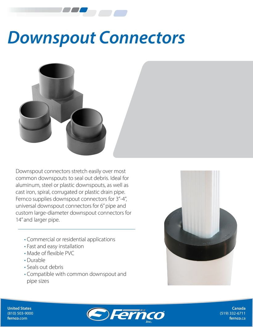 how to connect square downspout